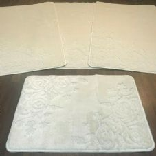 ROMANY GYPSY WASHABLES SET OF TOURER SIZES 67X110CM MATS/RUGS ROSE SUMMER CREAM